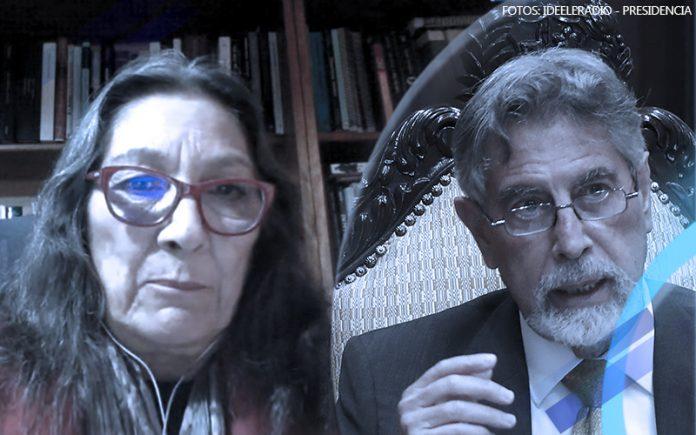 Pepi Patrón - Francisco Sagasti (Fotos: Ideeleradio - Presidencia)