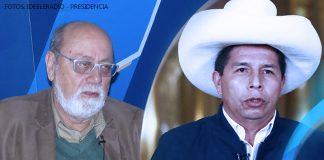 Alberto Adrianzén - Pedro Castillo - Fotos: Ideeleradio - Presidencia
