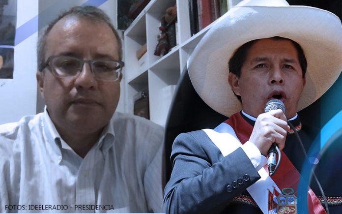 Eduardo González Cueva - Pedro Castillo - Fotos: Ideeleradio - Presidencia
